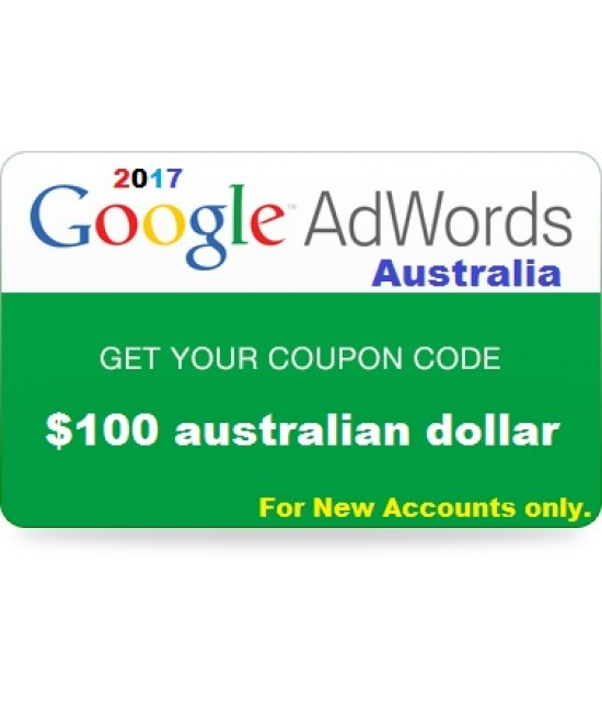 $100 AUD Google Adwords Coupon Australia