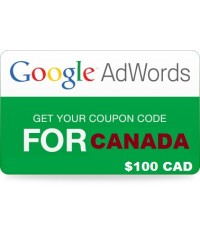 $100 Google Adwords coupon code for Canada