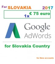 €75 Euro Google Adwords vouchers Slovakia for 2018