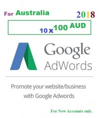 10 x 100 CAD Google Adwords coupon CANADA for 2018