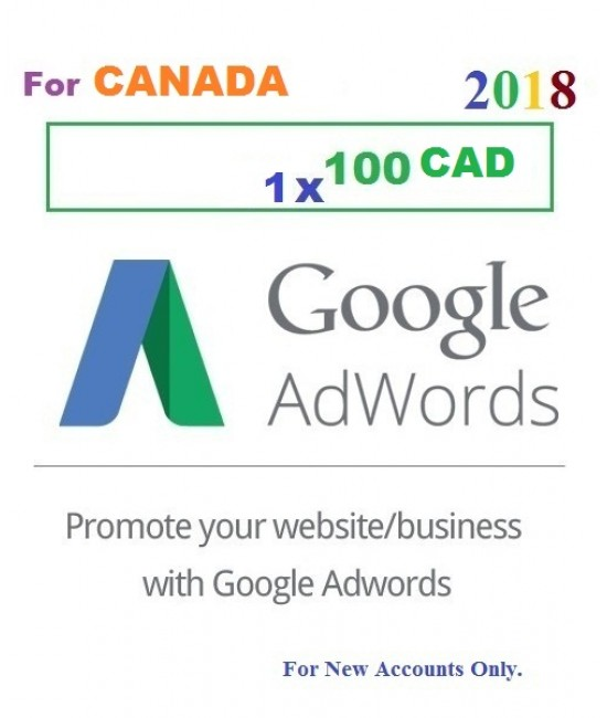 $100 Google Adwords coupon code Canada for 2019