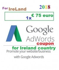 € 75 Euro Google Adwords coupon code Ireland for 2019