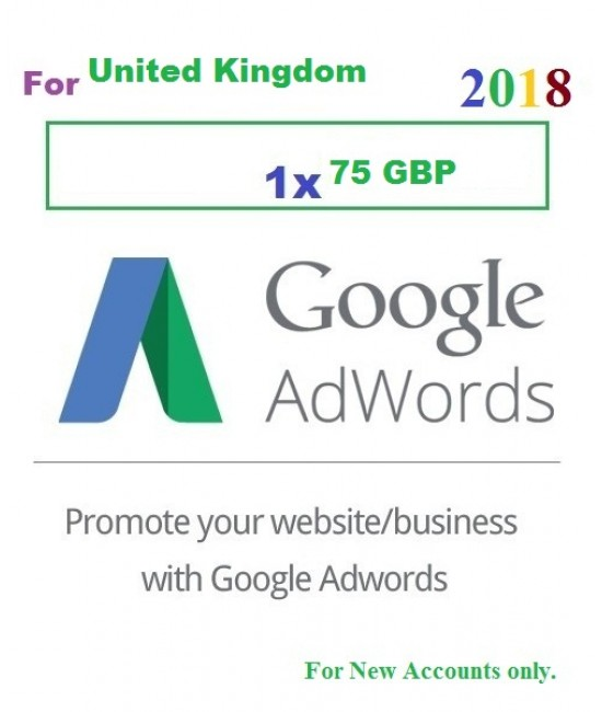 £75 GBP Google Adwords Coupon code UK