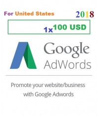 $100 USD Google Adwords coupon code USA for 2018