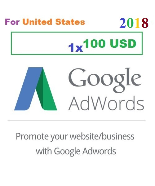 $100 USD Google Adwords coupon code USA for 2019