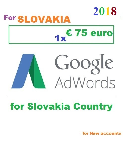 €75 Euro Google Adwords coupon Slovakia for 2018