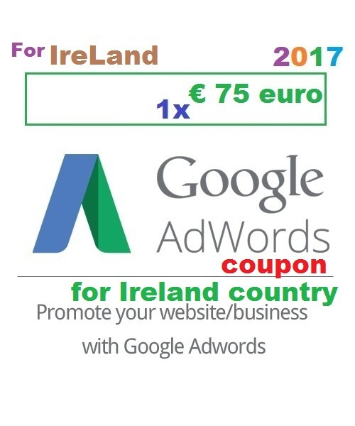 € 75 Euro Google Ads coupon code Ireland for 2018