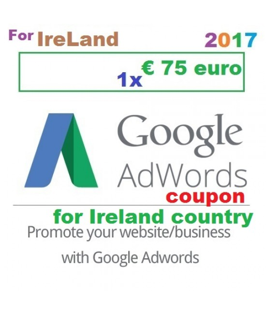 € 75 Euro Google Ads coupon code Ireland