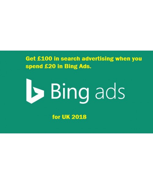 100 GBP bing ads coupon for UK
