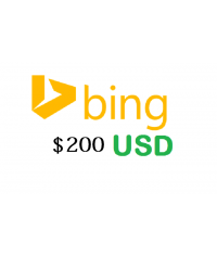 200 USD Bing Ads Coupon, 100% FREE Value ,no need of Spending