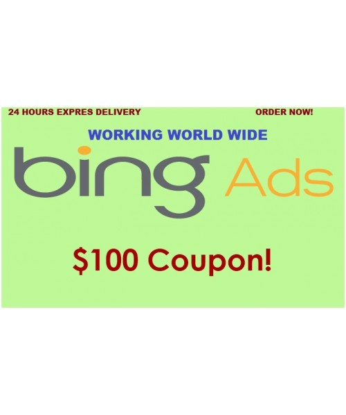 $ 100 Bing Advs Coupon, 100% free Value,  No need of spending