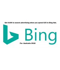 100 AUD bing ads coupon for Australia