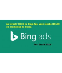 R$150 bing ads coupon for Brazil