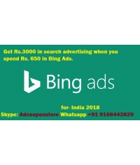 3000 INR bing ads coupon for India