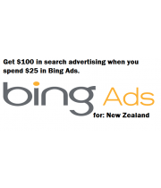 100 NZD bing ads coupon for New Zealand