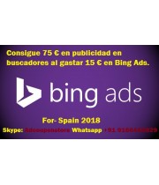 75 Euro bing ads coupon for Spain