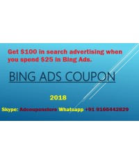 100 USD bing ads coupon for USA