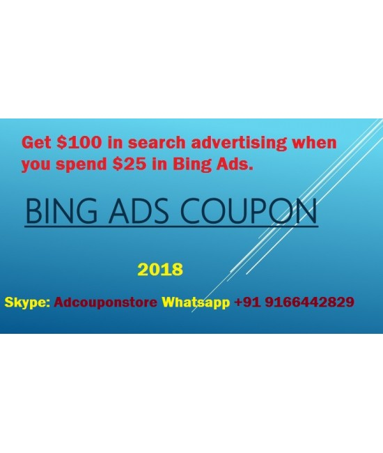 100 USD bing ads coupon -Working Worldwide
