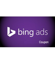 bing ads coupon 110 USD Working world wide