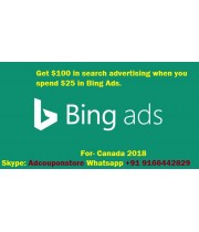 100 CAD bing ads coupon for Canada