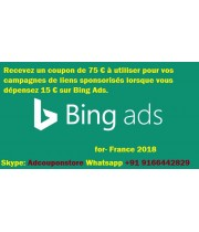 75 Euro bing ads coupon for France