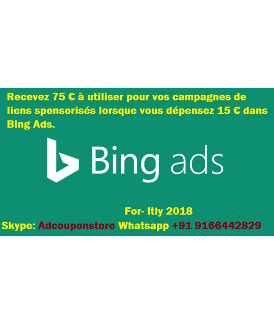 75 Euro bing ads coupon for Itly