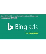 MXN 1000 bing ads coupon for Mexico