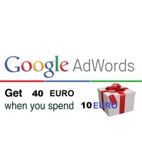 Google Adwords coupon code 40 Euro Estonia & Latvia​