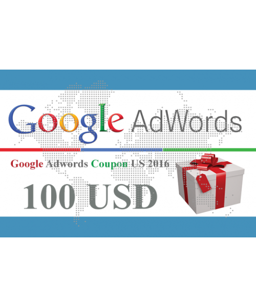 50 x 100 USD Google Adwords vouchers USA for 2018