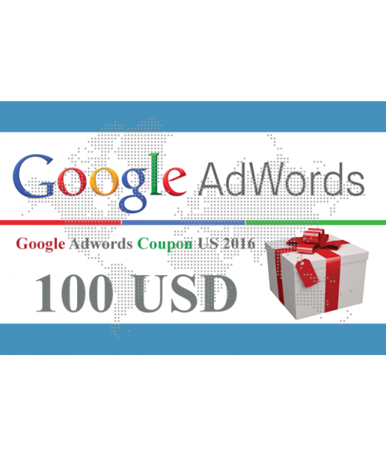 50 x 100 USD Google Adwords vouchers for USA