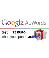 Google Adwords vouchers coupon 75 Euro for Germany, Spain, Itly, Ireland, Finland, France, Belgium, Netherlands & Austria ONLY