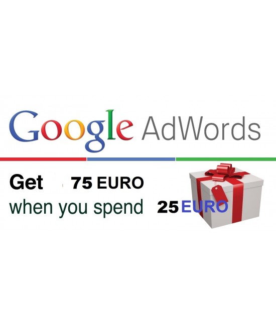 Google Adwords vouchers coupon 75 Euro for Itly, Finland, France, Belgium, Netherlands & Austria ONLY