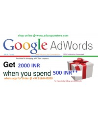 Google Adwords Promo coupon code 2000 INR