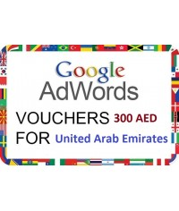 50 x 300 AED Google Adwords coupon vouchers for UAE for 2018