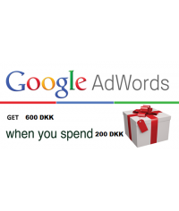 Google Adwords coupon 600 DKK Denmark for 2018
