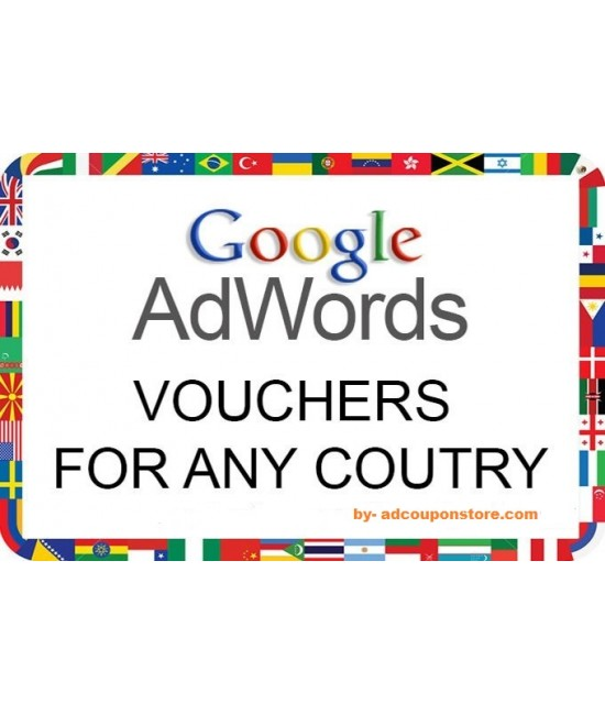 Google Adwords vouchers for all countries