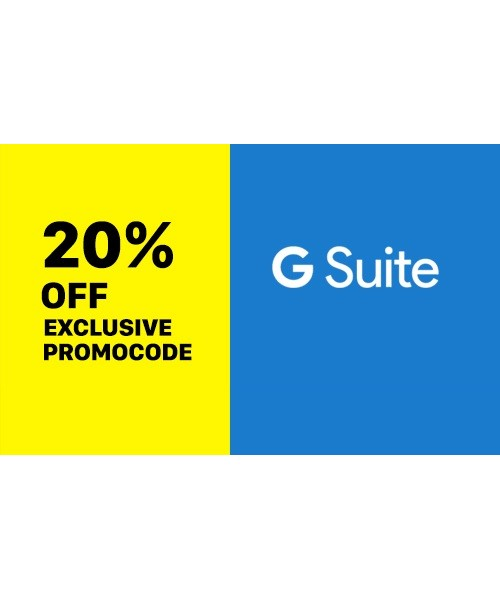 20% OFF G Suite ( GOOGLE APPS) Promo Code