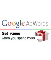 GOOGLE ADWORDS COUPON 2000 Philippine Peso