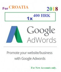 400 HRK Google Adwords Coupon Croatia for 2018