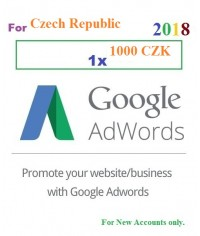 1000 CZK Google Adwords coupon for Czech Republic