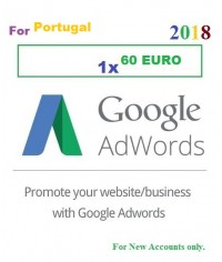 60 Euro Google Adwords coupon for Portugal 2018