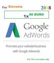 60 Euro Google Adwords coupon for Slovenia 2018