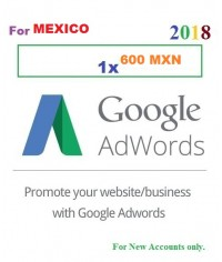 600 MXN Google Adwords coupon for Mexico 2018