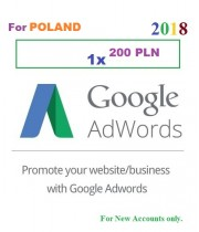200 PLN Google Adwords coupon for Poland 2018