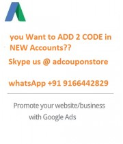 2 Google Ads Coupon for NEW Account ( Account must be Less than 10 days OLD)