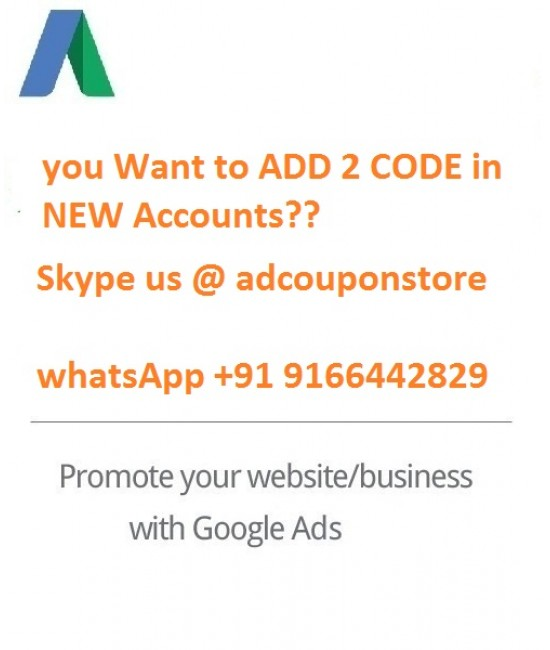 2 Google Ads Coupon for NEW Account ( Less than 10 days OLD)