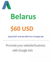$60 USD Google Ads Coupon Belarus