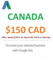 $150 CAD Google Ads Coupon Canada