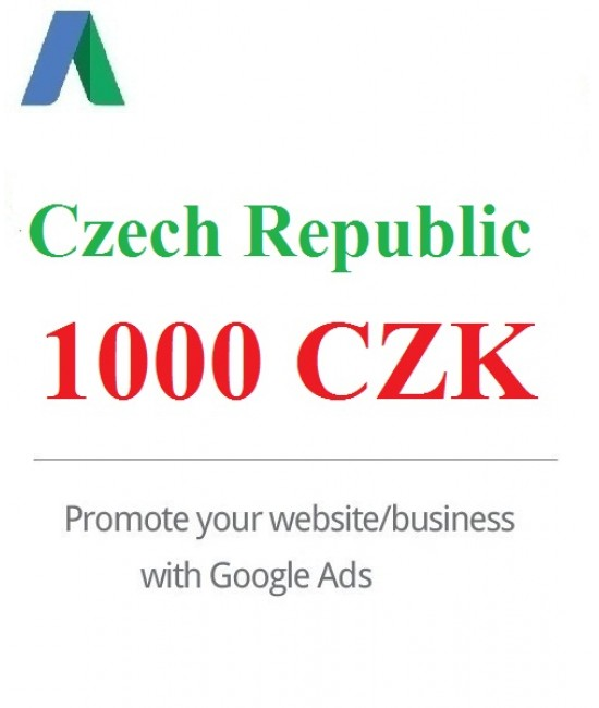 1000 CZK Google Ads coupon for Czech Republic 2020