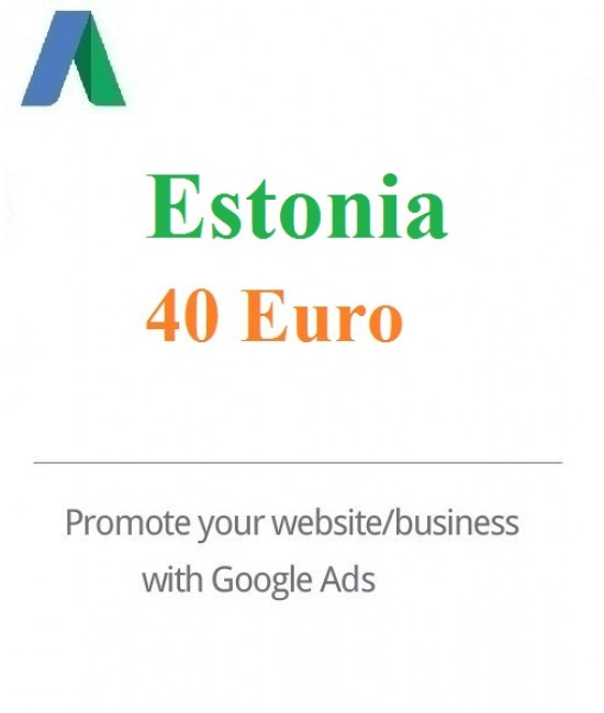 40 Euro Google Adwords coupon Estonia